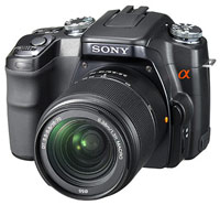 Sony DSLR Alpha A100 Kit (18-200 мм)  black